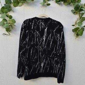 H&M Sweaters - H&M black line splatter sweater